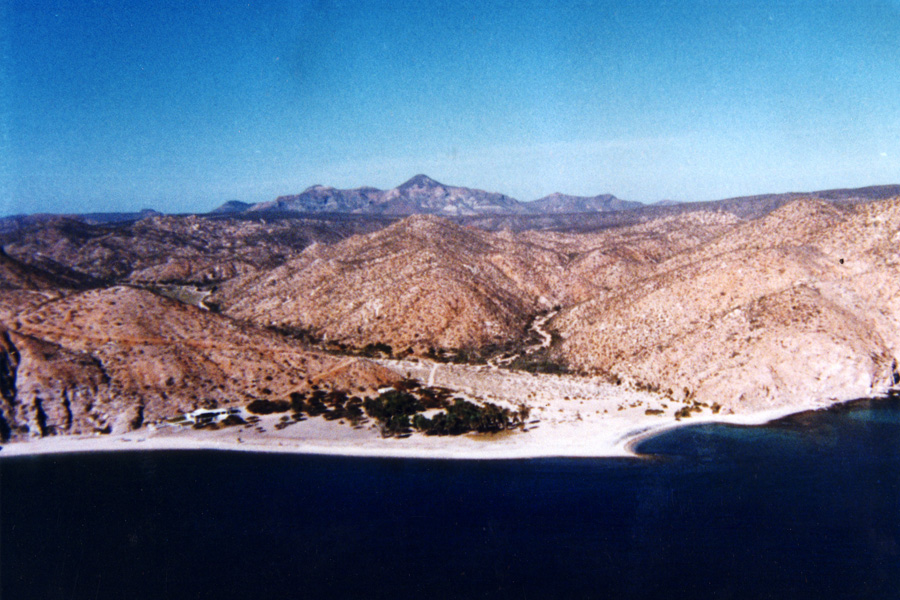 A view of Rancho El Rosario from the air